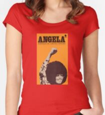 Angela Davis - Portait Of A Revolutionary Women's Fitted Scoop T-Shirt