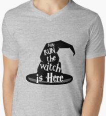 Run The Witch Is Here Halloween Party Outfit Costume T-Shirt