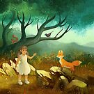 Girl and Fox by Griffonne