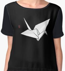 Paper Crane Color Women's Chiffon Top