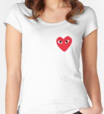 Commes Des Garcons - PLAY Women's Fitted Scoop T-Shirt