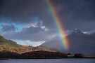 Rainbow at Kinlochleven, and the Pap of Glencoe, Scotland by Cliff Williams