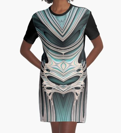 Cosmic creature #Fractal B Graphic T-Shirt Dress