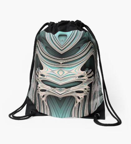 Cosmic creature #Fractal B Drawstring Bag