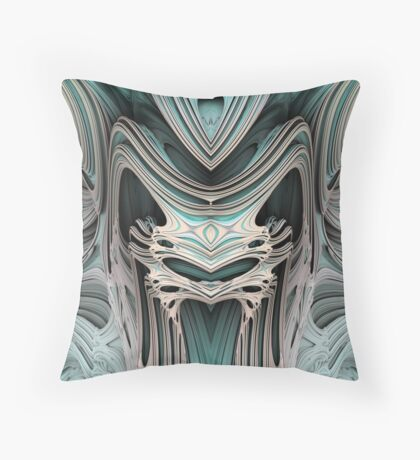 Cosmic creature #Fractal B Throw Pillow