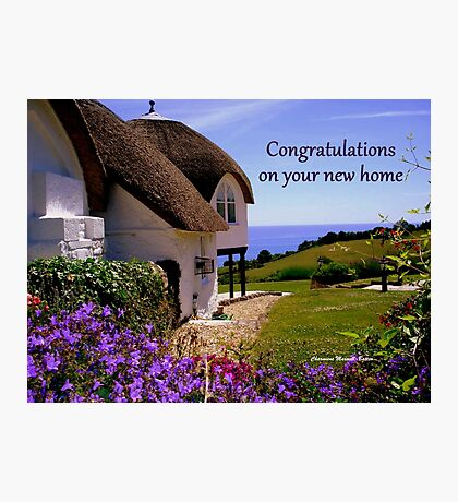 New Home -  Greeting Card  Photographic Print
