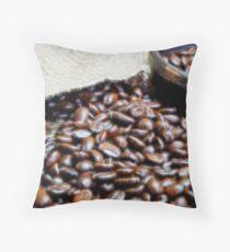 Coffee Beans Closeup II Throw Pillow