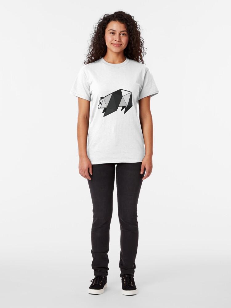 Alternate view of Origami Panda Classic T-Shirt