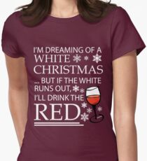 White Christmas Women's Fitted T-Shirt