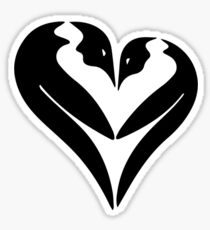 Penguin Heart Sticker
