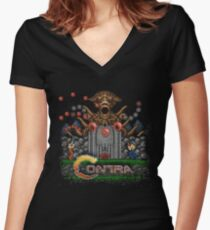 Contras Women's Fitted V-Neck T-Shirt