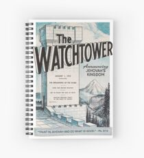 2017 JW Yeartext on old Watchtower magazine: Trust in Jehovah and Do What Is Good. - Psalm 37:3 Spiral Notebook