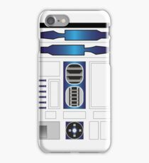 R Two Blue/White iPhone Case/Skin