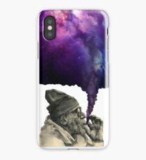 Old man smoking the universe iPhone Case/Skin