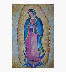 Our Lady of Guadalupe painting, Vergin de Guadalupe picture Virgin Mary print Black Madonna Mexico Photographic Print