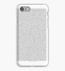 THE ENTIRE BEE MOVIE SCRIPT iPhone Case/Skin