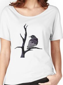 Three-Eyed Crow on a Branch  Women's Relaxed Fit T-Shirt