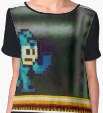 Mega Man retro painted pixel art Chiffon Top