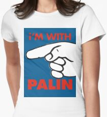 i'M WITH PALIN Women's Fitted T-Shirt