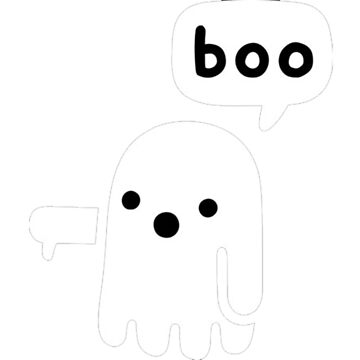 A ghost saying boo by Lukeee4