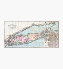 Vintage Map of Long Island (1880)  Photographic Print
