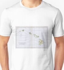 Vintage Map of Hawaii (1883) Unisex T-Shirt