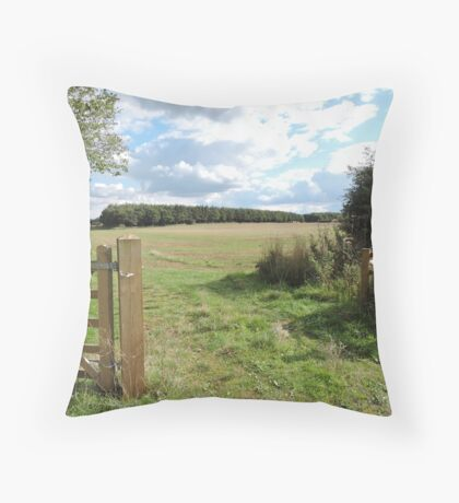 Open To Happiness Throw Pillow