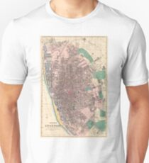 Vintage Map of Liverpool England (1890) Unisex T-Shirt