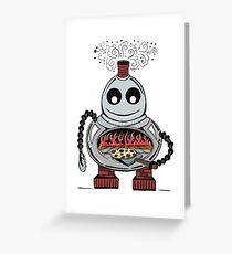 Pizza Bot Greeting Card