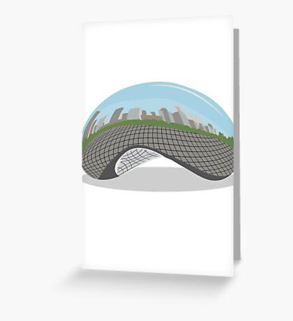 Cloud Gate (The Bean) Greeting Card
