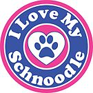 I LOVE MY SCHNOODLE DOG HEART I LOVE MY DOG PET PETS PUPPY STICKER STICKERS DECAL DECALS by MyHandmadeSigns