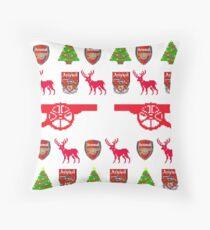 Arsenal 8-bit Holiday Sweater Throw Pillow