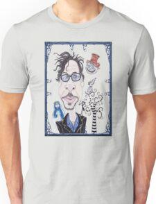 Dark Gothic Fantasy Movies Caricature Drawing Unisex T-Shirt