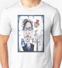 Dark Gothic Fantasy Movies Caricature Drawing T-Shirt