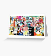 We are Still Philistines, After Basquiat Greeting Card