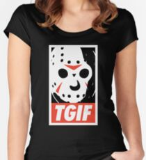 TGIF Women's Fitted Scoop T-Shirt