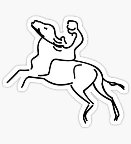 Jockey on a Horse VRS2 Sticker