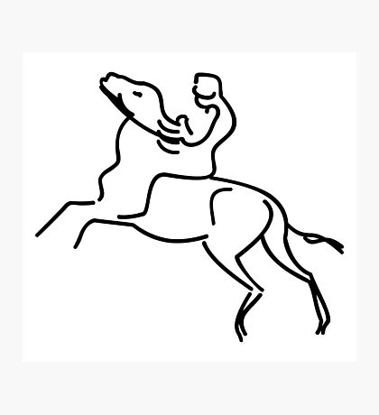 Jockey on a Horse VRS2 Photographic Print