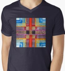 ERQ#2 - Abstract Watercolor by Dan Vera Men's V-Neck T-Shirt