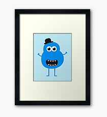 Funny Vintage/Retro Monster Framed Print