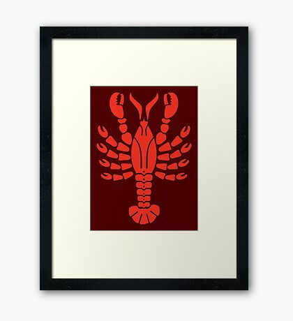Lobster VRS2 Framed Print