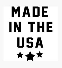 Made in the USA Photographic Print