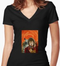 Doctor Who by Terry Oakes Women's Fitted V-Neck T-Shirt