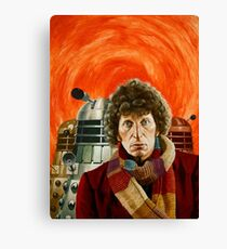 Doctor Who by Terry Oakes Canvas Print