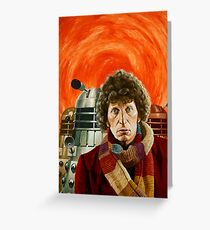 Doctor Who by Terry Oakes Greeting Card