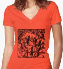 Camiseta entallada de cuello en V Bailar con el demonio