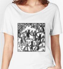 Camiseta ancha para mujer Bailar con el demonio