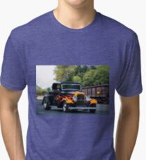 1932 Ford 'Fenders and Flames' Coupe Tri-blend T-Shirt