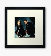 X-Files -Mulder and Scully Framed Print