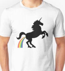 Einhorn Rainbow Poo (schwarzes Design) Slim Fit T-Shirt